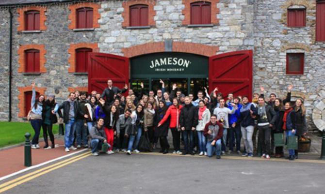 Cork It trip to the Jameson Distillery, Dublin