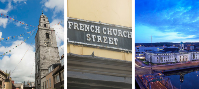 Three images of Cork City