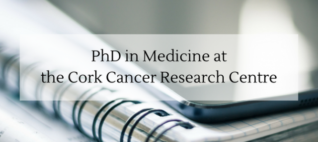 PhD in Medicine at the Cork Cancer Research Centre