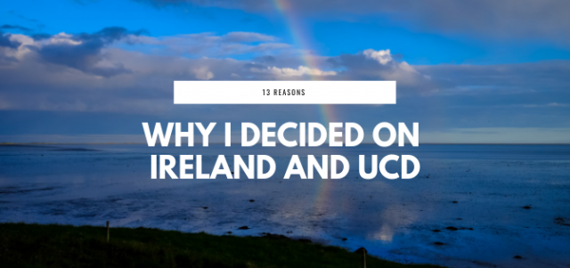 A easy decision: choosing University College Dublin