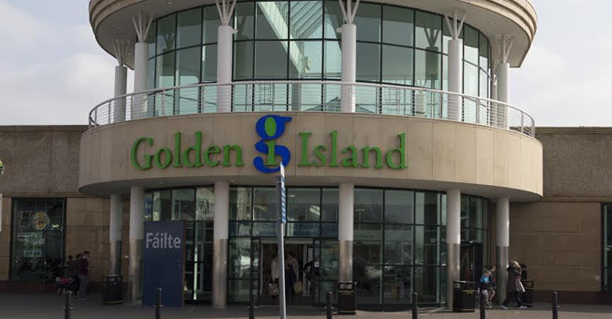A view of the facade of Golden Island Shopping Centre