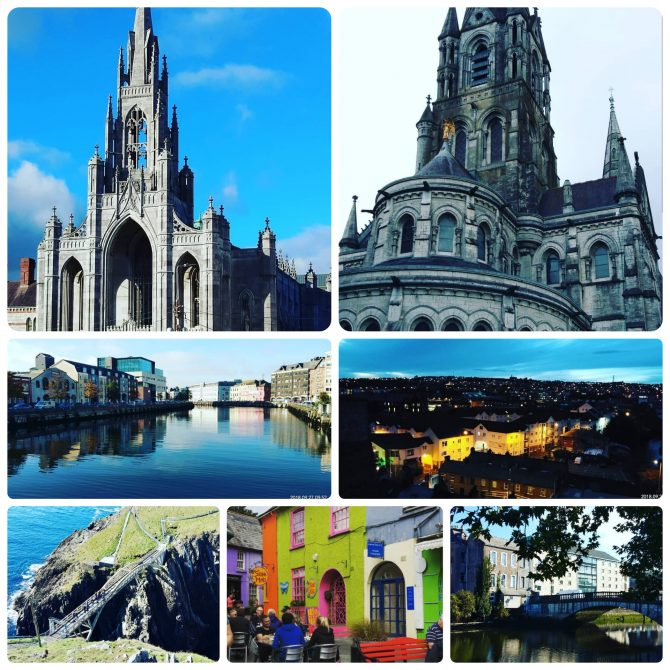 Collage of various sights around Cork city