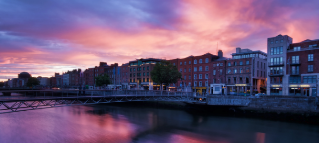 River Liffey with buildings.