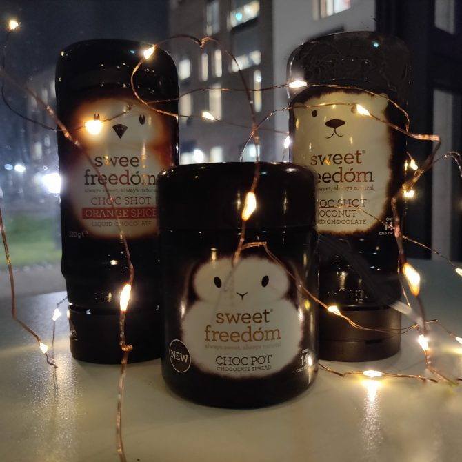 Sweet freedom syrup jars covered in fairy lights