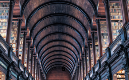 ceiling of library in Trinity College